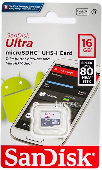 Karta Micro Sd 16gb 10 Sandisc Ultra Adapter Sd