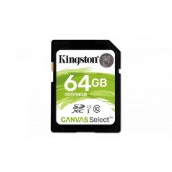 Karta SD 64GB Canvas Select 80/10MB/s Kingston