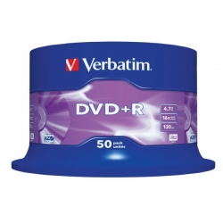 DVD+R (plus) 16x VERBATIM CAKE 50 DO ZADRUKU
